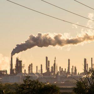 emisiones de CO2 de una central eléctrica