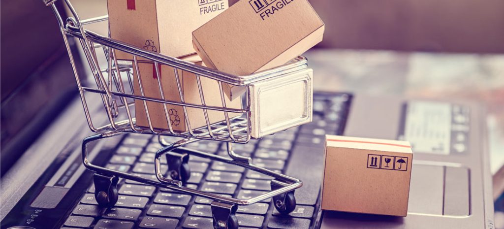 Concepto de compra online